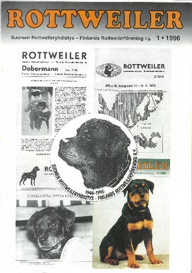 Rottweiler-lehti 50v 1996