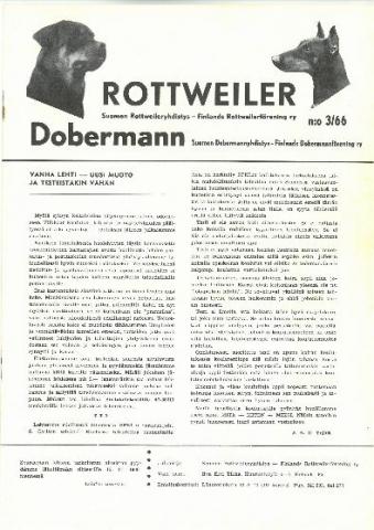 Rottweiler-lehti 1966