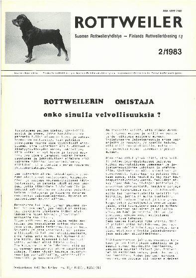 Rottweiler-lehti 1983