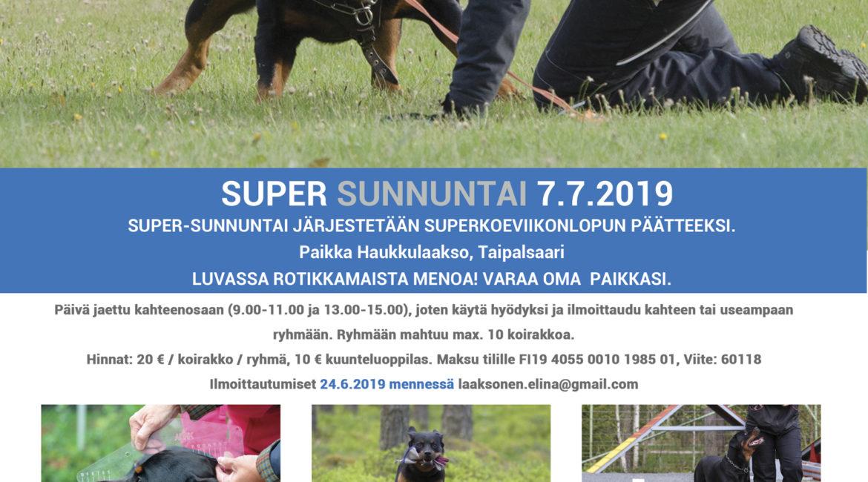 Supersunnuntai 7.7.2019