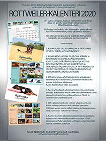 Rottweiler-kalenteri 2020